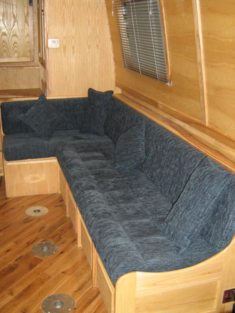 Upholstery for Narrow boat seating
